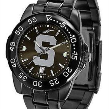 Michigan State Spartans Mens Watch Fantom Gunmetal Finish Black Dial