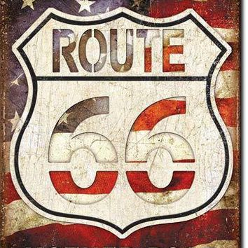 Tin Sign -Route 66 -Americas Road