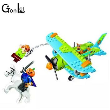 GonLeI Bela 10429 Scooby Doo Mummy Museum Mysterious Plane Building Block Toys compatible with kids gift