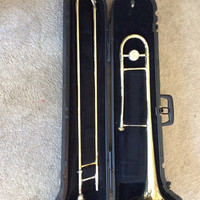 Trombone Brass Instrument, Bach Vintage Trombone with Blessing 6 1/2 Mouthpiece and Hardcase, Concert Marching Band, FREE US Shipping