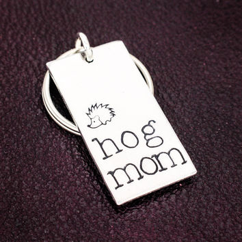 Hog Mom Key Chain - Mother's Day - Gift for Moms - Aluminum Key Chain