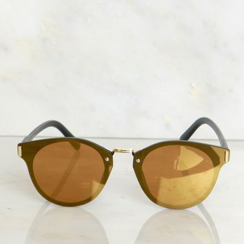 Modern Sunglasses Gold