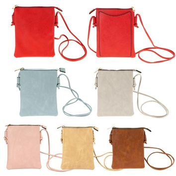 "8"" Cross-body Bag with Cell Phone Pocket Wallet - CASE OF 24"