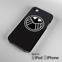S.H.I.E.L.D. Agent Black A0054 iPhone 4 4S 5 5S 5C 6, iPod Touch 4 5 Cases