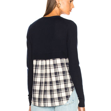 Veronica Beard Gemma Sweater in Navy | FWRD