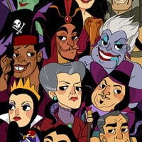 Disney villains Art Print by Little People