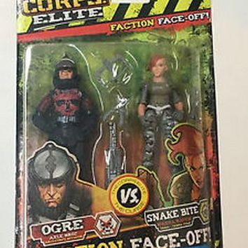 The Corps Elite vs The Curse Ogre vs Snake Bite Action Figure Set NIB Lanard Toys