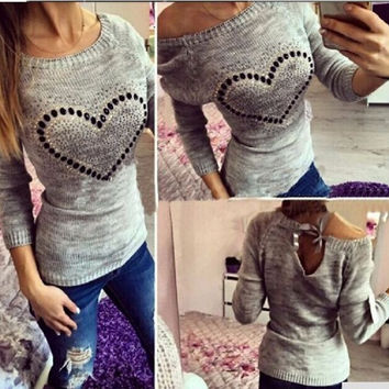 Pullover Hot Sale Knit Tops Sweater [9052551172]