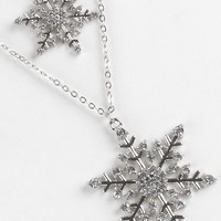 Double Layer Snowflake Fashion Necklace