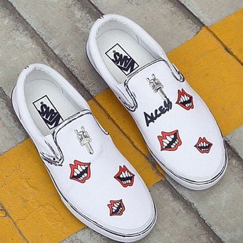 VANS Custom  Canvas Flats Sneakers Sport Shoes