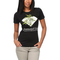 Diamond Supply Girls Homegrown Black Tee Shirt