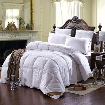 100% Pure Duck Feather Down Filling Comforter Set