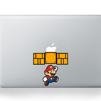 Mario----Mac decal Macbook Decals Macbook Stickers Macbook Pro decals Macbook Air decals Vinyl decal for Apple Mac iPad iPhone