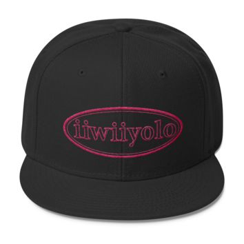 Wool Blend Snapback - Pink iiWiiyolo Oval Label