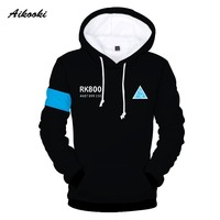 Aikooki Hot Game Detroit Become Human 3D Hoodies Men/Women Harajuku Spring Winter Boys/Girls 3D Print RK800 Detroit Funny Design