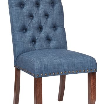 Office Star Navy Jessica Tufted Dining Chair