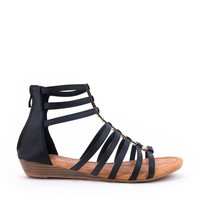 Bow Accent Wedge Sandal