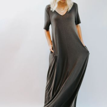 HC Zenana  Grey Maxi Dress