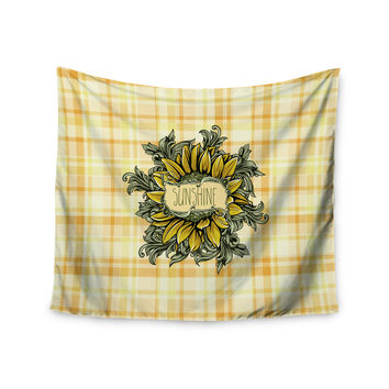 "Nick Atkinson ""Sunflower Sunshine"" Yellow Gold Wall Tapestry"