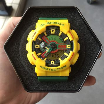 auguau G-Shock GA110RF-9ADR Yellow / Green