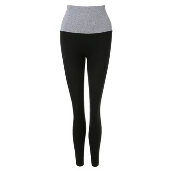 Active Elastic Waist Color Block Skinny Ninth Women's Yoga Pants