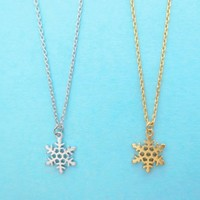 Snowflake, Frozen, Gold, Silver, Necklace