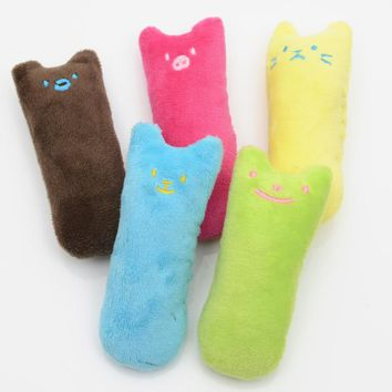 Pet Thumb Toy Cat Toys Bite-resistant Plush Toy Interactive Fancy Pets Teeth Grinding Catnip Toys Claws Thumb Bite Cat Mint
