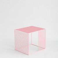 Iacoli & McAllister Wire Side Table - Pink