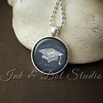 Personalized 2015 Class Necklace, Personalized Graduation Necklace, Graduation Keepsake, Senior Necklace, 2015 Graduation Gift