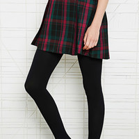 Cooperative Pleated Skirt in Tartan at Urban Outfitters