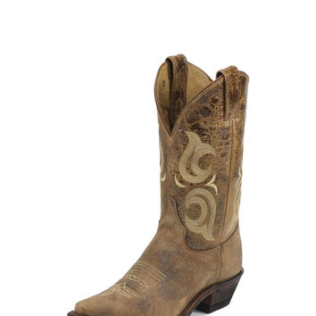 Justin Women's Bent Rail Boots in Puma Tan BRL103 - Handcrafted in the U.S.A.
