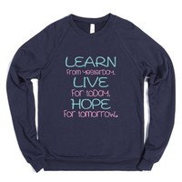 Learn-Unisex Navy Sweatshirt