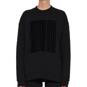 Barcode cotton sweatshirt