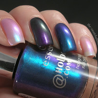 Essence Holographics.com Holographics collection nail polishes Skittle Swatches and Review | The Swatchaholic . a blog about nail polish and makeup