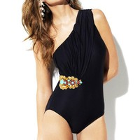 Badgley Mischka Swimwear 'Tangier Black' One-Piece Swimsuit by Badgley Mischka 2012 | The Orchid Boutique