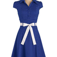 Hepcat Soda Fountain Dress in Blueberry | Mod Retro Vintage Dresses | ModCloth.com