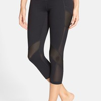 Women's Zella 'Luminous' Mesh Inset Capris,