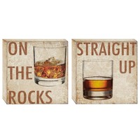 Bar Time Canvas Wall Art (Set of 2) (1074) - Illuminada