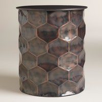Metal Rani Drum Accent Table
