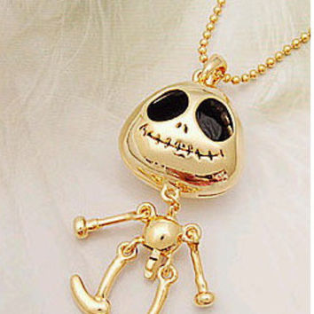 New Arrival Shiny Jewelry Gift Stylish Accessory Skull Sweater Chain Necklace [6057526081]