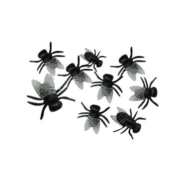 20pcs Black/Green Halloween Plastic Flys Joking Toys All Saints' Day tricky prop tools simulation fly set Halloween supply Sep29