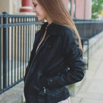 Iconic Moto Jacket - Black