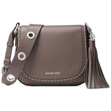 MICHAEL Michael Kors Brooklyn Medium Saddle Bag | macys.com