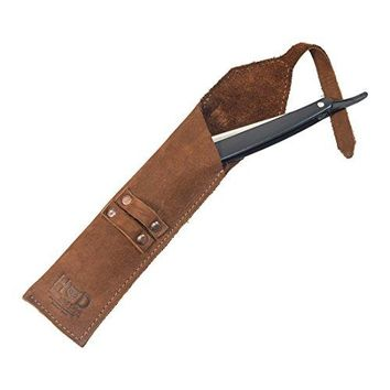 Rustic Leather Straight Razor Case Handmade by Hide & Drink :: Swayze Suede