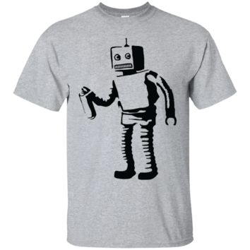 Banksy's Spray Painting Robot Graffiti T-Shirt