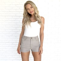 Good Times Denim Shorts in Taupe
