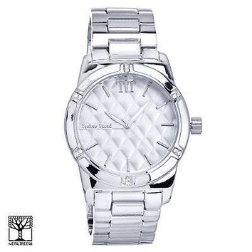 Jewelry Kay style Men's CZ Silver Plated Iced Out Fashion Metal Heavy Band Watch WM 1286 S