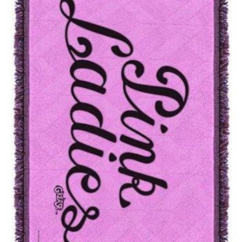 Grease Pink Ladies Woven Tapestry Throw Blanket - PRE-ORDER, SHIPS IN JULY