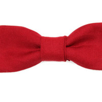 Skinny / Thin Ruby Red Clip On Bow Tie Men / Boys