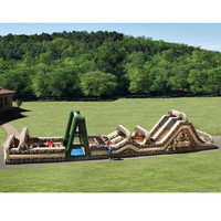 The 85 Foot Inflatable Military Obstacle Course